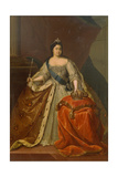 Portrait of Empress Catherine I (1684-172) Giclee Print by Heinrich Buchholz