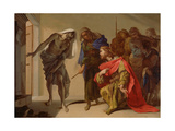 The Shade of Samuel Invoked by Saul, C. 1655 Giclee Print by Bernardo Cavallino