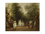 The Mall in St. James's Park, Ca. 1783 Giclee-trykk av Gainsborough, Thomas