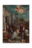 Saint Valentine Baptizing Saint Lucilla, 1575 Giclee Print by Jacopo Bassano