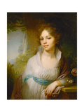 Portrait of Maria Lopukhina, 1797 Giclee Print by Vladimir Lukich Borovikovsky