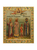 Saint Nino, Saint Dimitry of Rostov, Holy Martyr Lyubov, and Saint Mary of Egypt, 1904 Giclee Print by Osip Semionovich Chirikov
