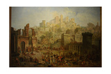 Massacre of Jews in Metz During the First Crusade Giclee Print by Auguste Migette