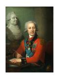 Portrait of Baron Alexei Vasilyev, 1800 Giclee Print by Vladimir Lukich Borovikovsky