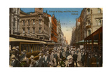 Corner of King and Pitt Streets, Sydney, New South Wales, Australia, C1917 Giclee Print