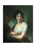 Portrait of Varvara Monycharova (Arapetova) Giclee Print by Vladimir Lukich Borovikovsky