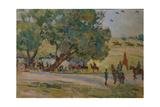Manoeuvres Near Moscow, 1930-1933 Giclee Print by Nikolai Pavlovich Ulyanov
