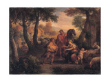 Finding of Romulus and Remus, C. 1720-1740 Giclee Print by Andrea Lucatelli