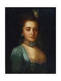 Portrait of Princess Praskovya Ivanovna Golitsyna Giclee Print by Fyodor Stepanovich Rokotov
