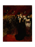 Ball at the Paris Opera Giclee Print by Jean-Louis Forain