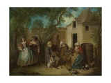 The Four Ages of Man: Old Age, Ca 1735 Giclee Print by Nicolas Lancret