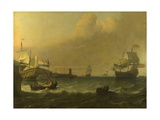 Dutch Men-Of-War Entering a Mediterranean Port, 1681 Giclee Print by Ludolf Bakhuizen