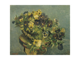 Basket of Pansies on a Small Table, 1887 Giclee Print by Vincent van Gogh