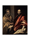The Apostles St. Peter and St. Paul, 1587-1592 Lámina giclée por  El Greco