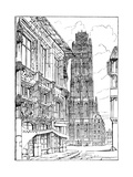 The Cathedral Spire, Rouen, 1835 Giclee Print by John Ruskin