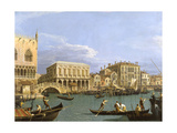 View of the Riva Degli Schiavoni, 1735-1739 Giclee Print by  Canaletto