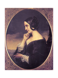 Portrait of Marie DAgoult (1805-187), 1843 Giclee Print by Henri Lehmann