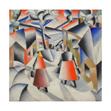Morning in the Village after Snowstorm Lámina giclée por Kasimir Severinovich Malevich