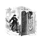 Priest Whipping a Penitent with a Birch, C1876 Giclee Print