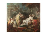 Psyche Showing Her Sisters Her Gifts from Cupid, 1753 Reproduction procédé giclée par Jean-Honoré Fragonard