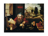 Saint Jerome in His Cell, 1520S Giclée-Druck von Joos Van Cleve