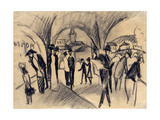 Scene under the Arcades in Thun, 1913 Giclée-tryk af August Macke
