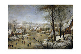 Winter Landscape with a Bird Trap, Ca 1601 Giclee Print by Pieter Brueghel the Younger