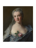 Portrait of Manon Balletti, 1757 Giclee Print by Jean-Marc Nattier
