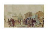 Street Scene in Moscow During the Rain, 1837 Giclee Print by Pavel Andreyevich Fedotov