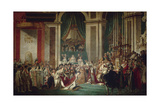 The Coronation of Napoleon, 1806-1807 Giclee Print by Jacques Louis David