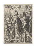 Alexander the Great Cutting the Gordian Knot, 17th Century Giclee Print by Theodor Matham