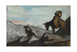 Don Quixote and Sancho Panza, Ca 1855 Giclee Print by Honoré Daumier