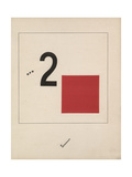 Story of Two Quadrats, 1920 Giclee Print by El Lissitzky