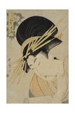 Courtesan Hanaogi of the Ogiya House, 1801 Giclee Print by Kitagawa Utamaro