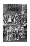 The Coronation of Emperor Alexander III and Empress Maria Fyodorovna, 1883 Giclee Print by Georges Becker
