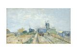 Vegetable Gardens at Montmartre, 1881 Giclee Print by Vincent van Gogh