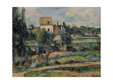 Mill on the Couleuvre at Pontoise, 1881 Giclee Print by Paul Cézanne