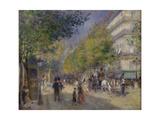 Pierre-Auguste Renoir - The Grands Boulevards, 1875 - Giclee Baskı