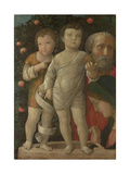 The Holy Family with Saint John, C. 1500 Giclee Print by Andrea Mantegna