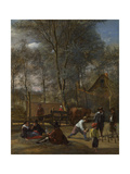 Skittle Players Outside an Inn, Ca 1663 Giclee Print by Jan Havicksz Steen