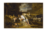 Mercury and Argus, 1645-1647 Giclee Print by Carel Fabritius