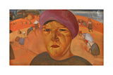 Russian Peasant Woman (From the Series Les Visages De Russi), 1923 Giclee Print by Boris Dmitryevich Grigoriev