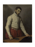 The Tailor (Il Tagliapann), C. 1565 Giclee Print by Giovan Battista Moroni