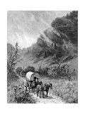 Mule Wagon Passing Through the Cumberland Gap, Kentucky Giclee Print