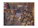 At a Recruiting Station, 1926 Giclee Print by Alexander Viktorovich Moravov
