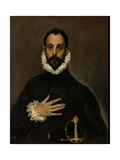 Nobleman with His Hand on His Chest, C. 1580 Giclee Print by  El Greco