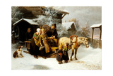 Leaving Home (Dalecarlian Scen) Giclee Print by Bengt Nordenberg