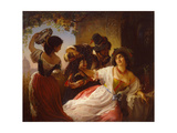 October Celebration in Rome, 1851 Giclee Print by Pimen Nikitich Orlov