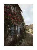A Cobbled Street in Gerberoy, France, 1938 Lámina giclée