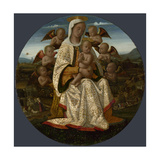The Virgin and Child with Cherubs, C. 1500 Giclee Print by Bernardino Fungai